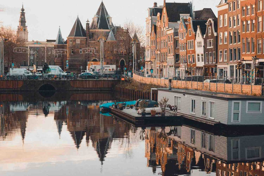 Charming canals of Amsterdam