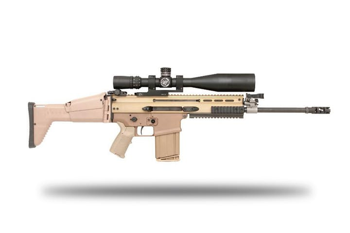 shoot the fn scar h sniper rifle battlefield vegas