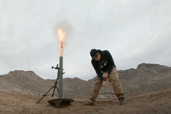 Hang 81mm mortar rounds!