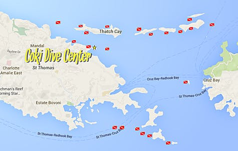 Boat Dive Map