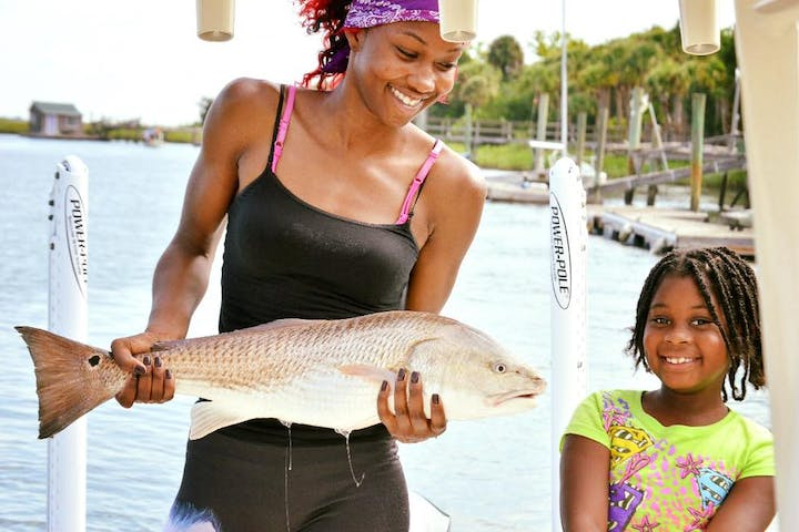 Mother and daughter fishing trips in Charleston