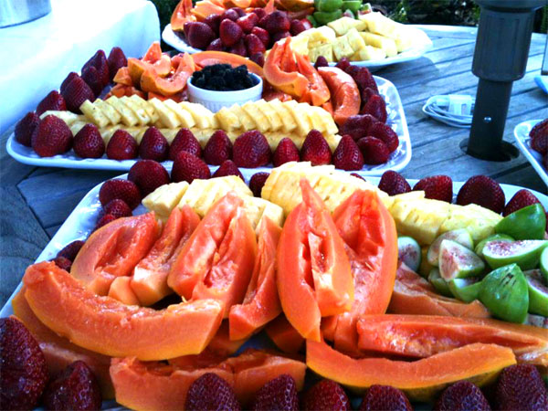 Local Maui Fruit platters