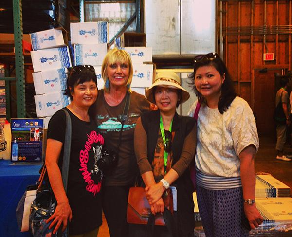 China girls with me at Ocean Vodka Barn
