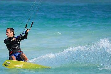 Man kiteboarding in Hawaii