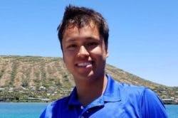 Kevin Wong diving in Hawaii Kai