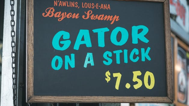 Gator on a Stick New Orleans