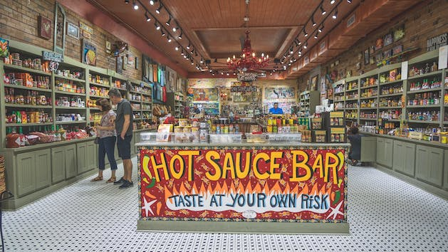 New Orleans Hot Sauce Bar