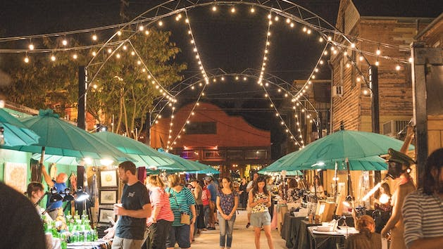 New Orleans Art Market at Night