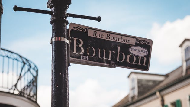 Bourbon Street Sign New Orleans