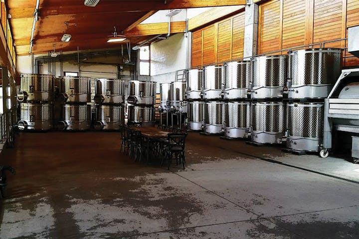 The distillation process for wines inside a vineyard