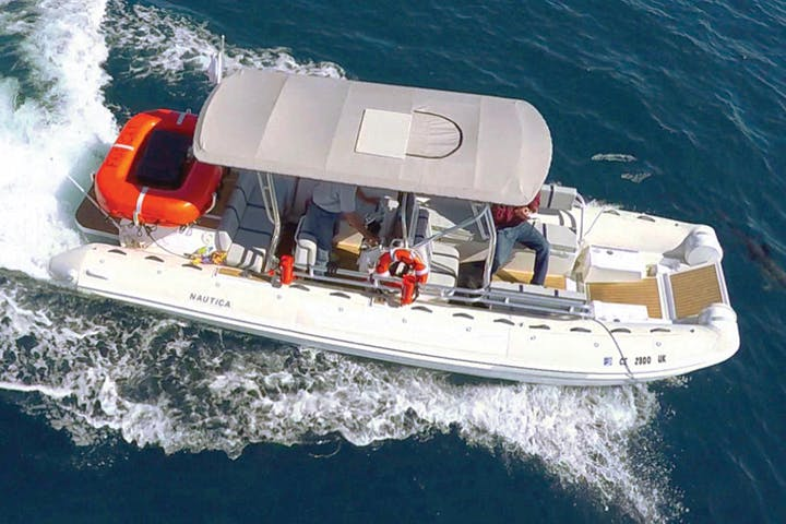 Private Boat Charter on a Zodiac   Capt  Dave's Dolphin