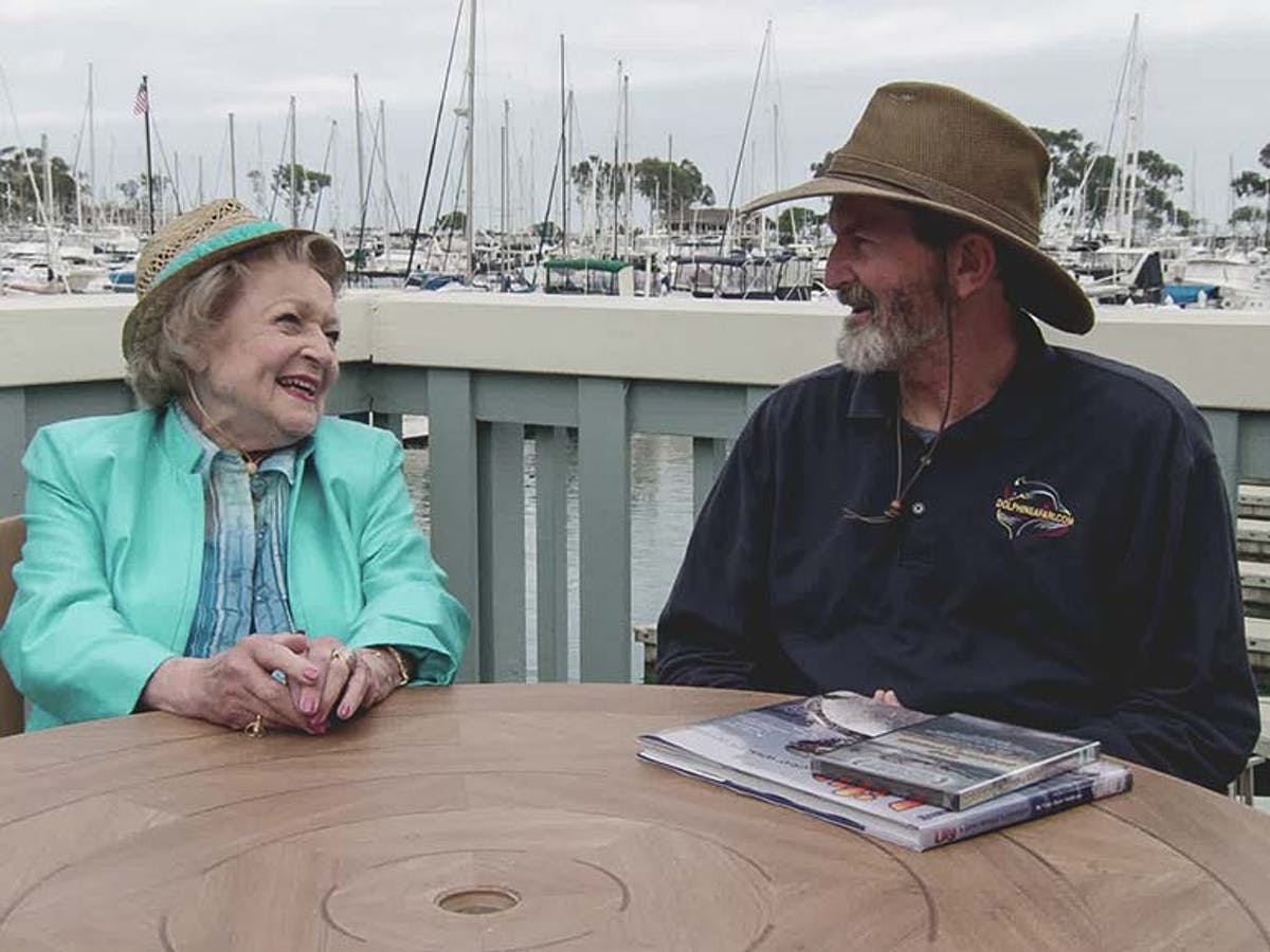Captain Dave meeting Betty White