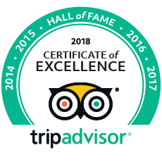 TripAdvisor Certificate of Excellence Hall of Fame award