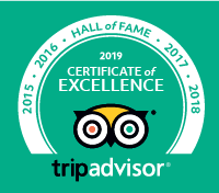 TripAdvisor Certificate of Excellence and Hall of Fame 2019