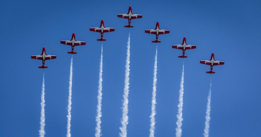 Airshow flyover