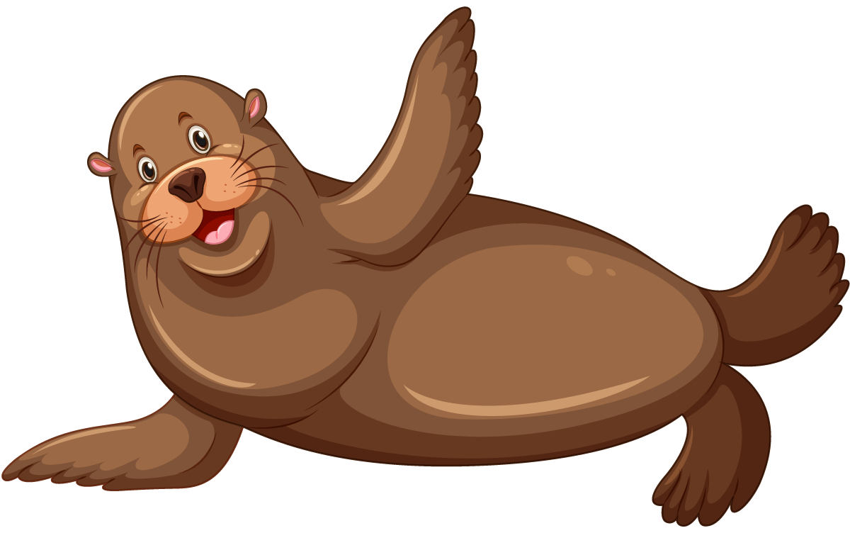 Smiling sea lion cartoon