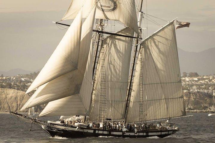 Tall ship Californian during Tall Ships Festival in Dana Point