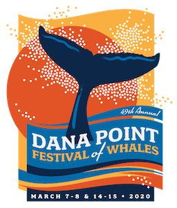 Logo for 49th annual Dana Point Festival of Whales in 2020