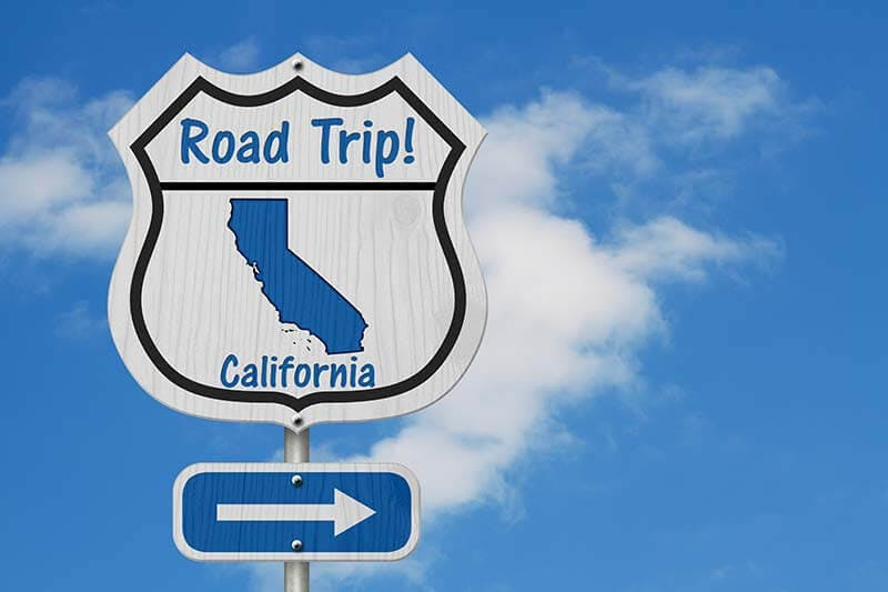 Highway sign that reads Road Trip California