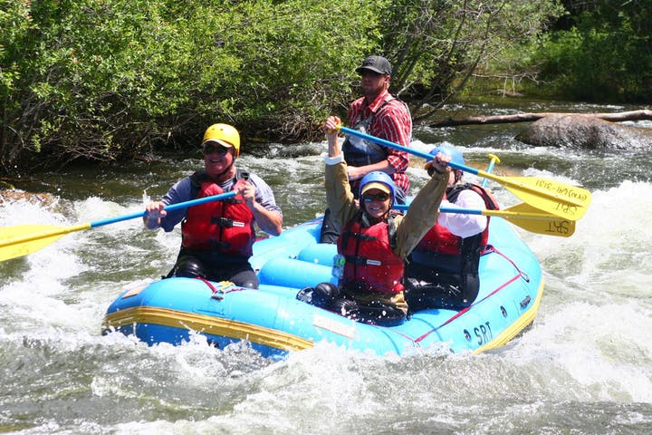 White water rafting in Colorado near Gunnison