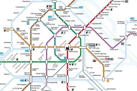 Vienna Subway Map.Vienna Metro System