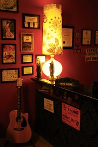 a red lit room