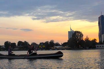 Afterwork canoe tour alte donau secret vienna