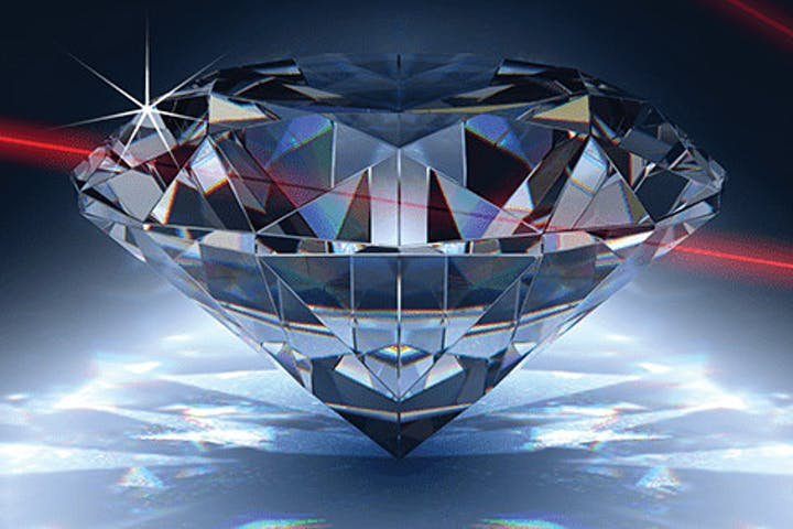 Diamond Heist header with lasers