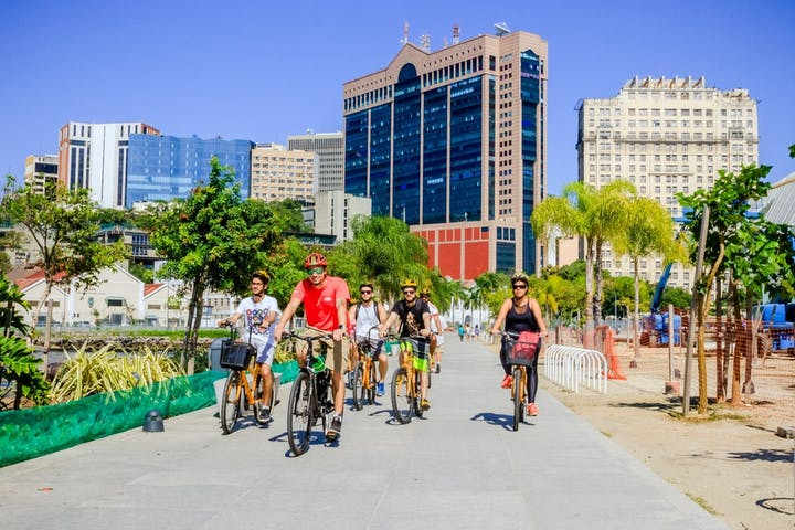 Biking-Through-Downtown-Rio