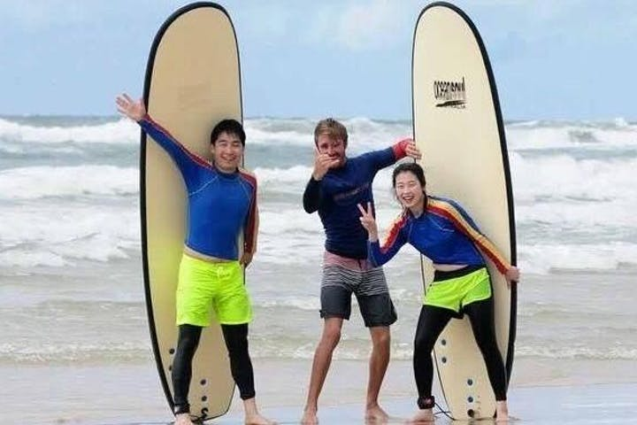 Intermediate Surfing Lesson at Burleigh Australia