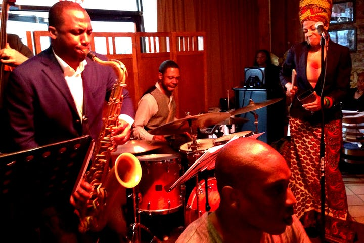 Jerome Jennings with Jazzmeia Horn at Creole in East Harlem