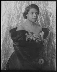 Marian Anderson posing for the camera