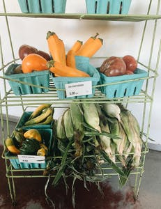 a box filled with lots of fresh produce