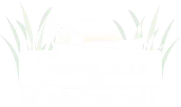 Sawgrass Recreation Park white logo
