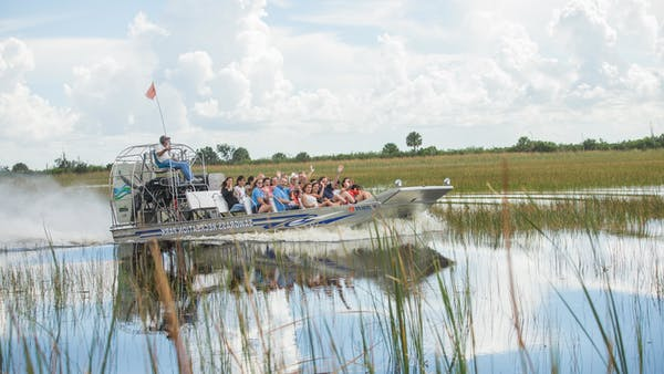 Group on Airboat Tour