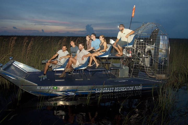 Airboat Tour at Sunset