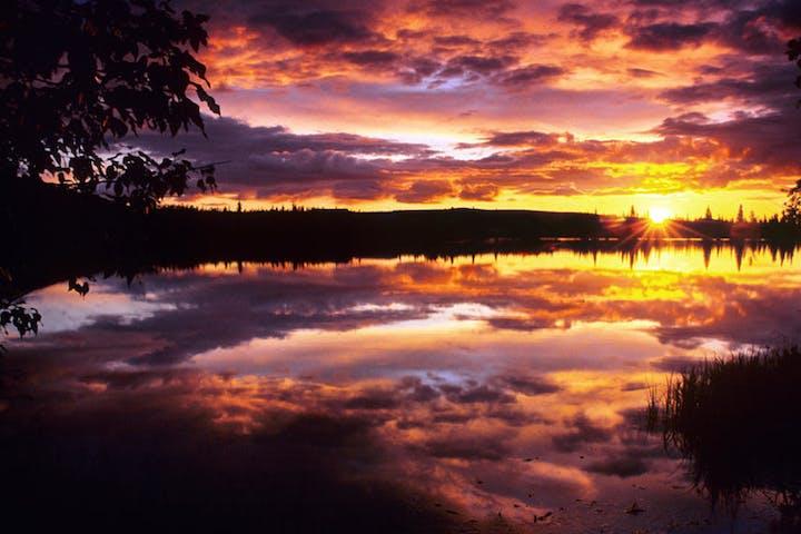 Midnight sun photo excursion