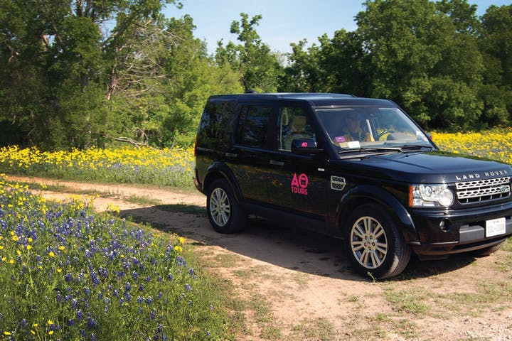 AO Tours black Land Rover