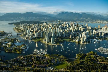 Vancouver Sightseeing Aerial shot