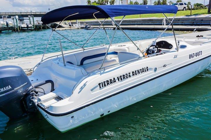 24 foot Hurricane Deckboat