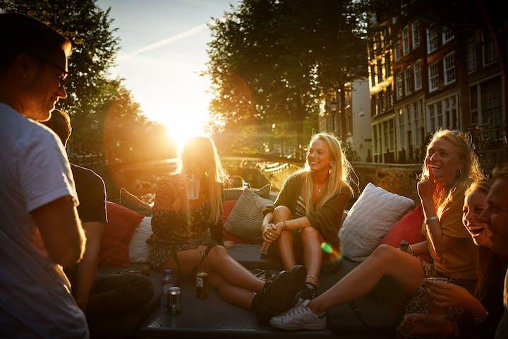 A sunset canal cruise Amsterdam