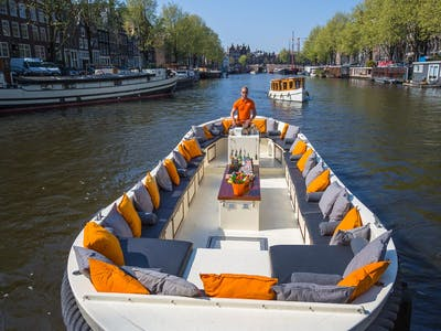 A luxury canal cruise boat