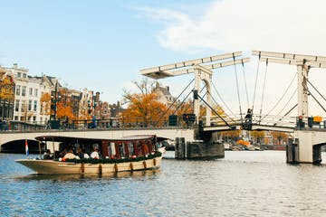 classic riverboat cruise in the fall in amsterdam