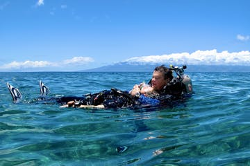 PADI rescue diver surface skills at Airport Beach in Lahaina.