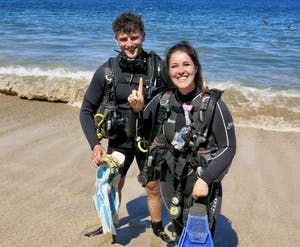 Maui scuba diving lessons at Airport Beach!