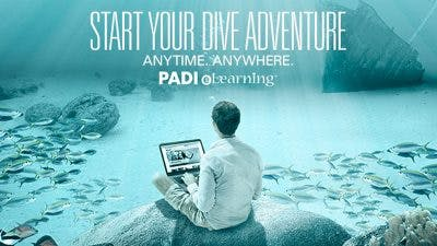 PADI eLearning scuba certification, start your dive adventure anytime, anywhere.