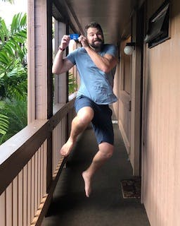 Maui scuba diver excited to receive his PADI Open Water certification card