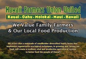 Hawaii Farmers Union United is Hawaiian-owned.