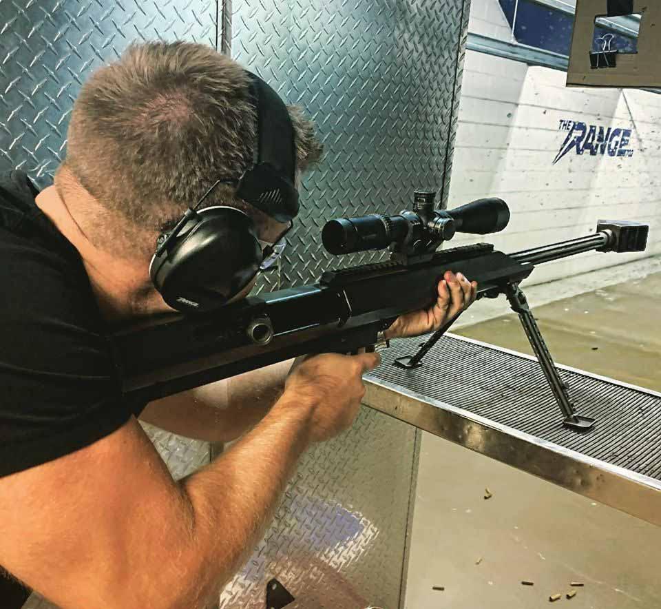 Shooting a 50 cal sniper rifle at The Range 702