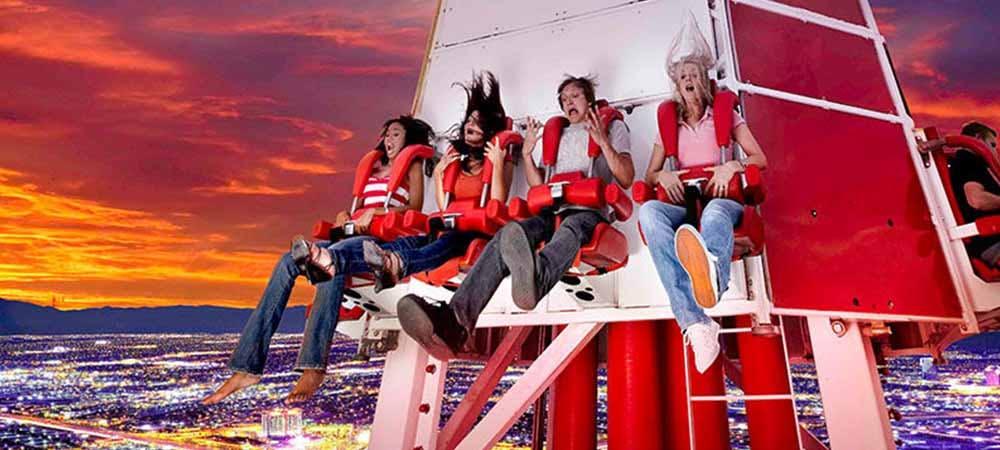 Big shot ride at Stratosphere Las Vegas
